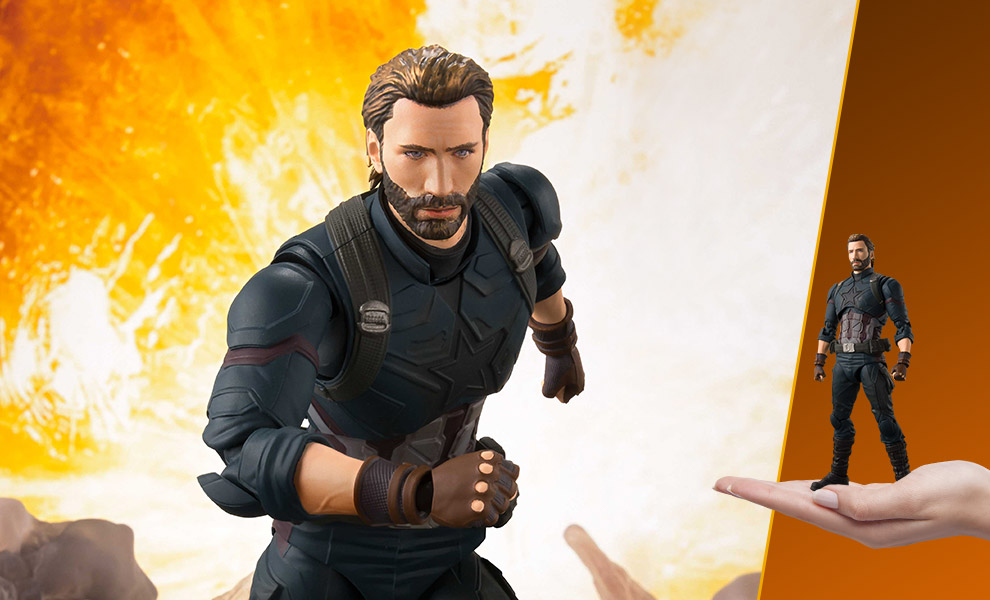 Gallery Feature Image of Captain America and Tamashii Effect Explosion Collectible Figure - Click to open image gallery