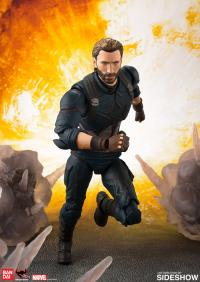 Gallery Image of Captain America and Tamashii Effect Explosion Collectible Figure