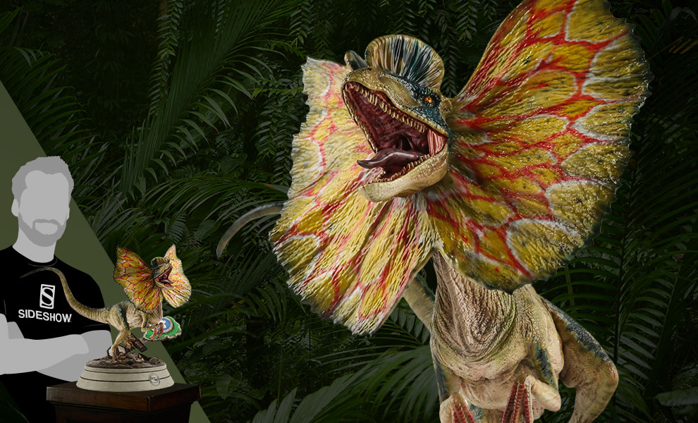Gallery Feature Image of Dilophosaurus Statue - Click to open image gallery