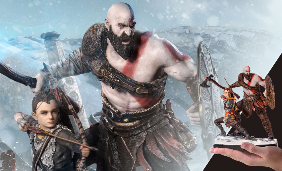 Gallery Feature Image of Kratos & Atreus Deluxe 1:10 Scale Statue - Click to open image gallery