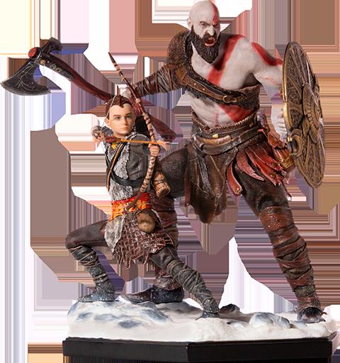 Iron Studios Kratos & Atreus Deluxe Statue