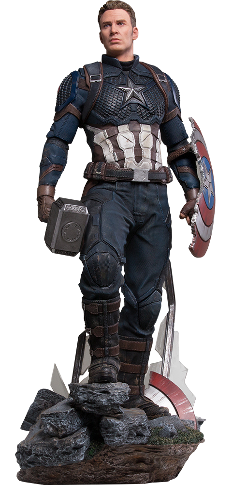 Marvel Captain America Deluxe Statue By Iron Studios Sideshow Collectibles