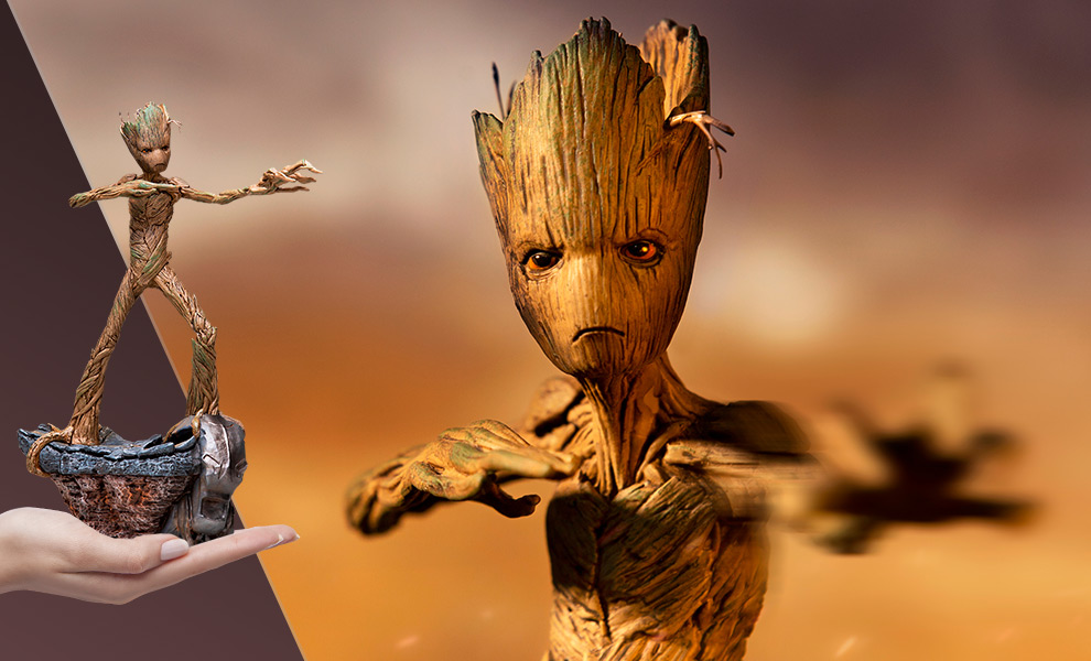 Gallery Feature Image of Groot 1:10 Scale Statue - Click to open image gallery