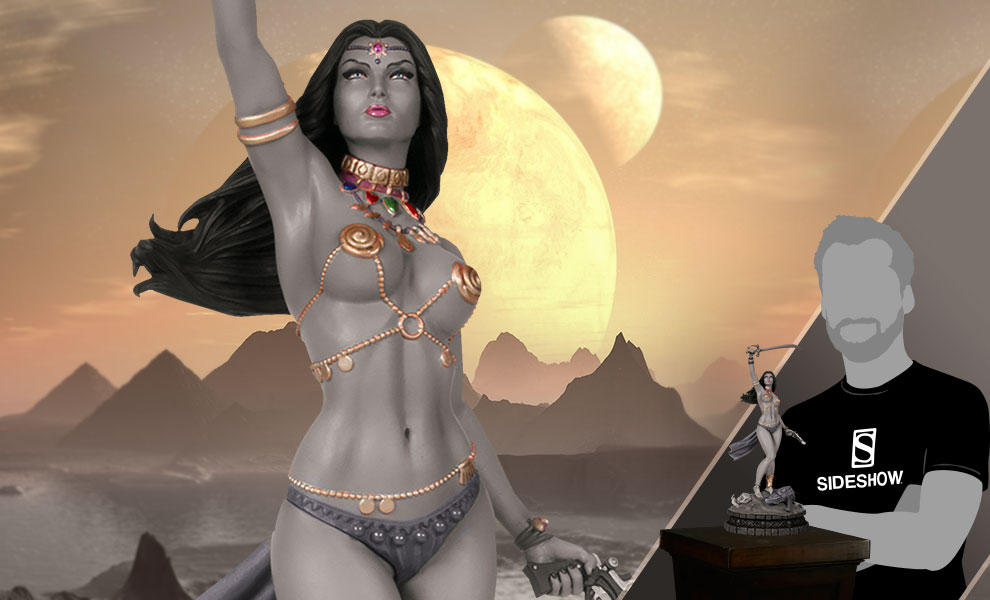 Gallery Feature Image of Dejah Thoris Black & White Statue - Click to open image gallery