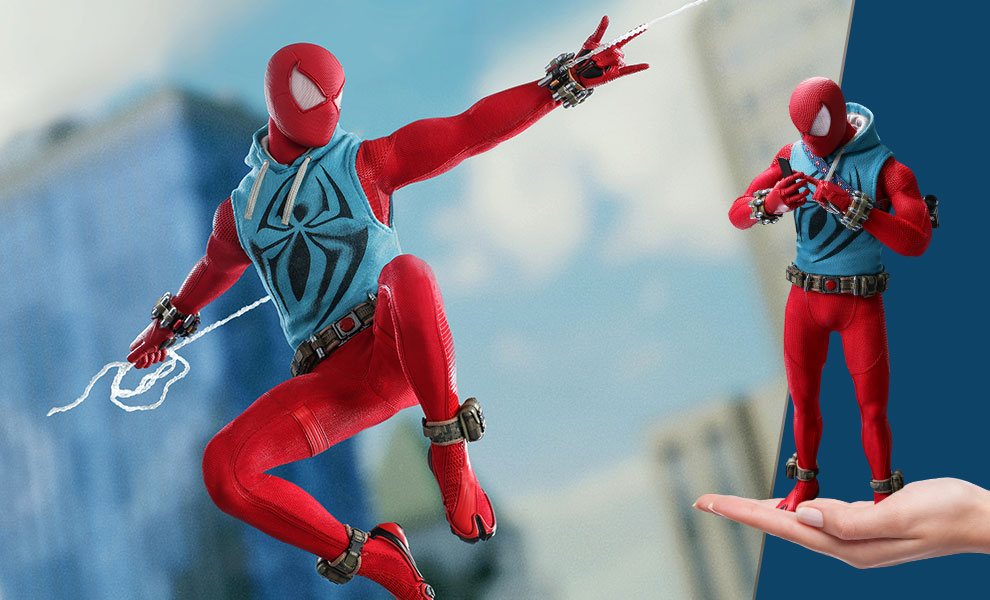 Gallery Feature Image of Spider-Man (Scarlet Spider Suit) Sixth Scale Figure - Click to open image gallery