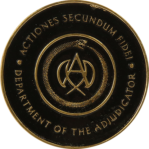 Chronicle Collectibles Adjudicator's Medallion Replica