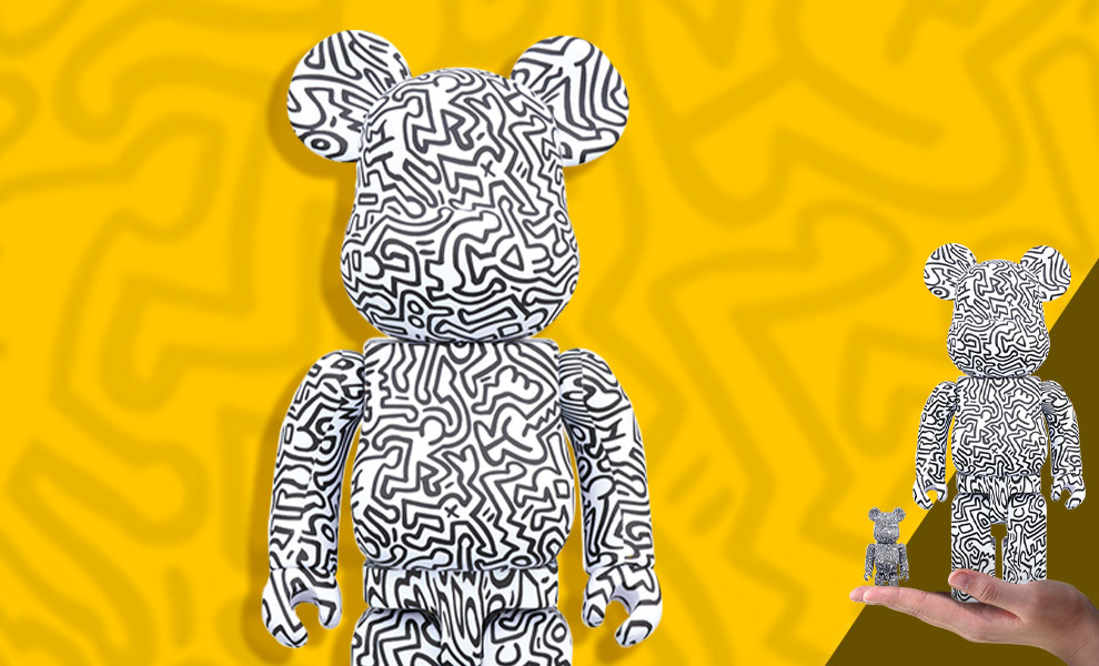 Gallery Feature Image of Be@rbrick Keith Haring #4 100% and 400% Collectible Set - Click to open image gallery