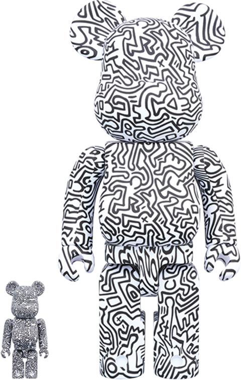 Medicom Toy Be@rbrick Keith Haring #4 100% and 400% Collectible Set