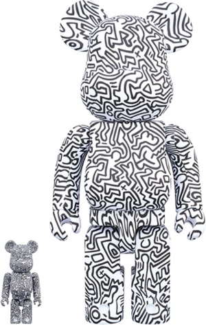 Be@rbrick Keith Haring #4 100% and 400% Collectible Set