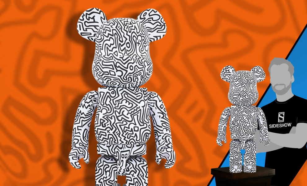 Gallery Feature Image of Be@rbrick Keith Haring #4 1000% Figure - Click to open image gallery