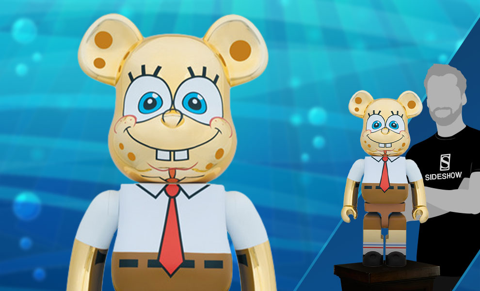 Gallery Feature Image of Be@rbrick Spongebob Gold Chrome 1000% Figure - Click to open image gallery