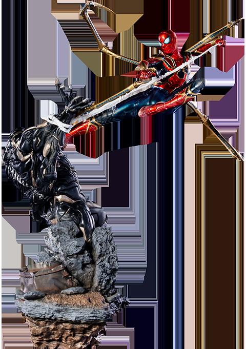 Iron Studios Iron Spider VS Outrider Statue