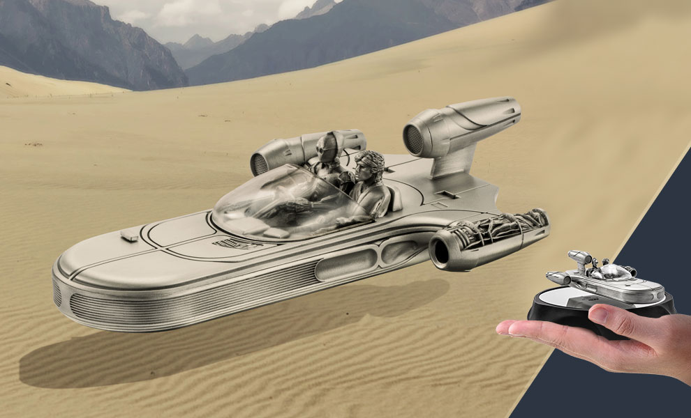 Gallery Feature Image of Landspeeder Replica Pewter Collectible - Click to open image gallery