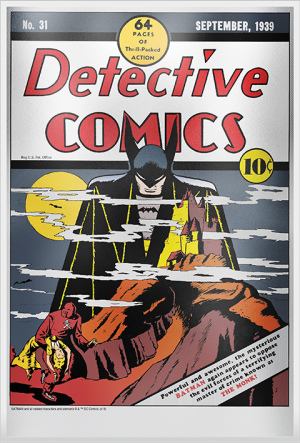 Detective Comics #31 Silver Foil Silver Collectible