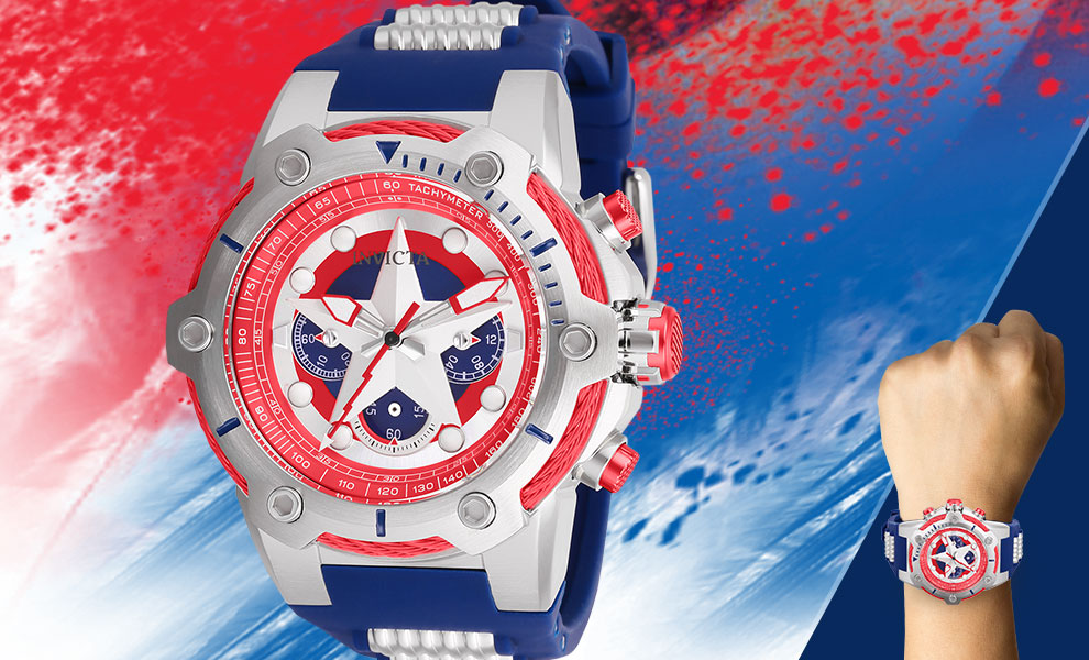 Gallery Feature Image of Captain America Watch - Model 26894 Jewelry - Click to open image gallery