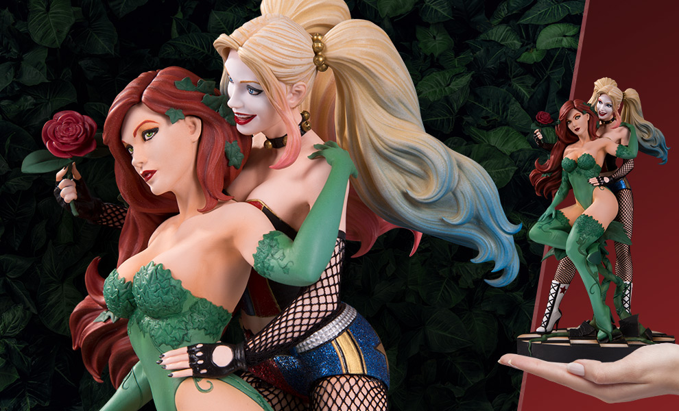 Gallery Feature Image of Harley Quinn & Poison Ivy Statue - Click to open image gallery
