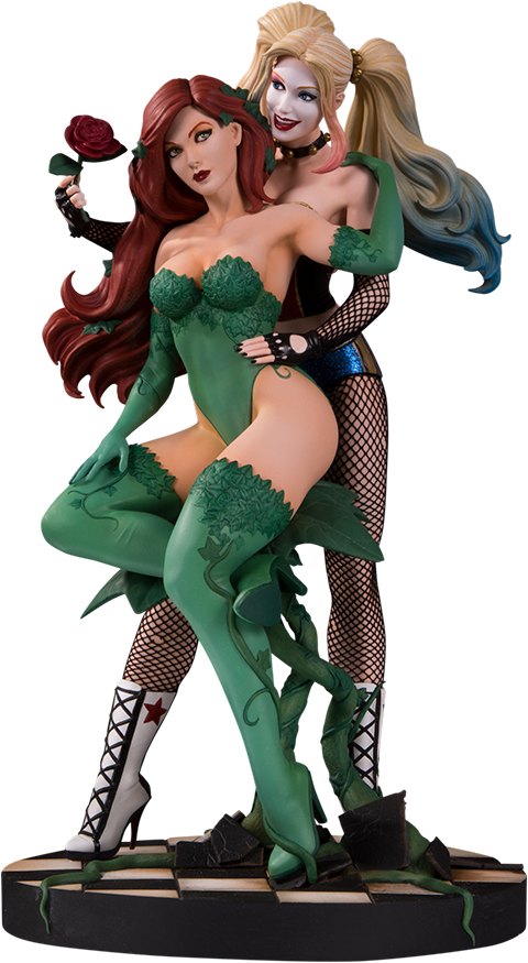 DC Direct Harley Quinn & Poison Ivy Statue