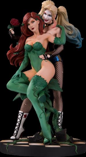 Harley Quinn & Poison Ivy Statue