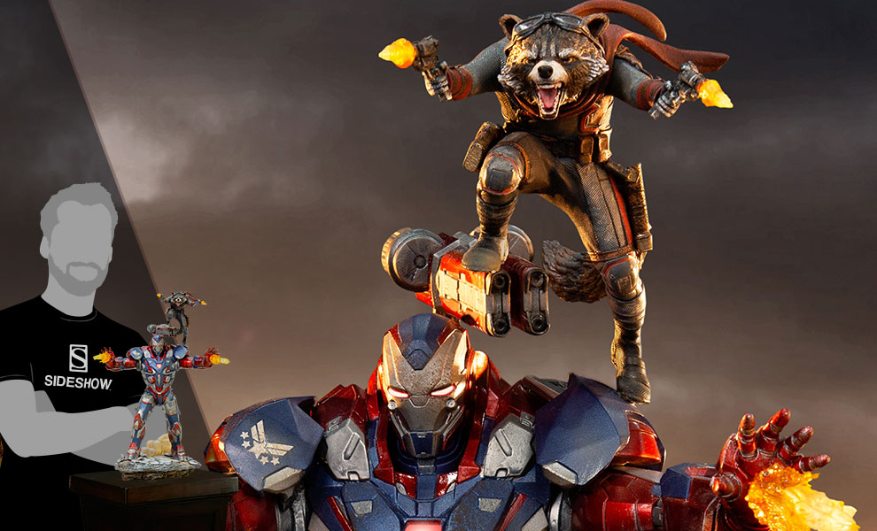 Gallery Feature Image of Iron Patriot & Rocket 1:10 Scale Statue - Click to open image gallery