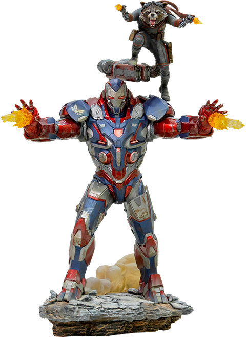 Iron Studios Iron Patriot & Rocket Statue