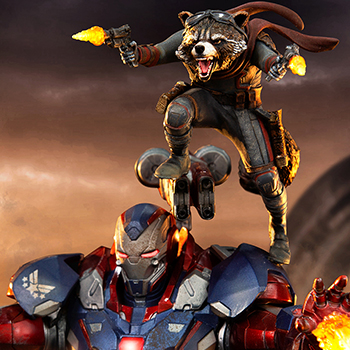 Iron Patriot & Rocket 1:10 Scale Statue