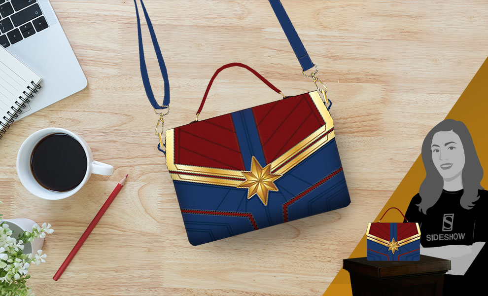 Gallery Feature Image of Captain Marvel Crossbody Bag Apparel - Click to open image gallery