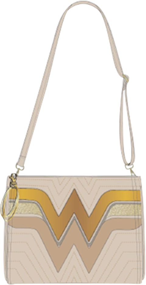 Loungefly Wonder Woman (Gold) Crossbody Bag Apparel