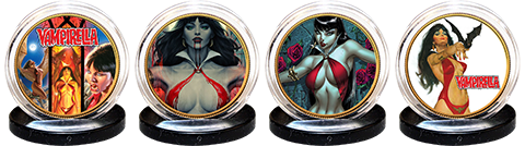 Dynamite Entertainment Vampirella 50th Anniversary 24kt Gold Coin Set Collectible Set