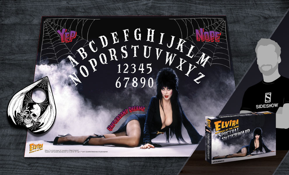 Gallery Feature Image of Elvira Mistress of the Dark Deluxe Spectral Switchboard Board Game - Click to open image gallery