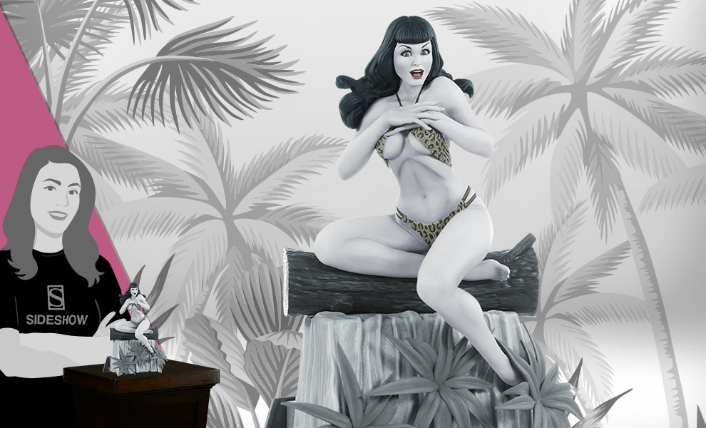 Gallery Feature Image of Bettie Page (Black & White Edition) Statue - Click to open image gallery