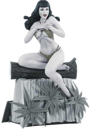 Bettie Page (Black & White Edition) Statue