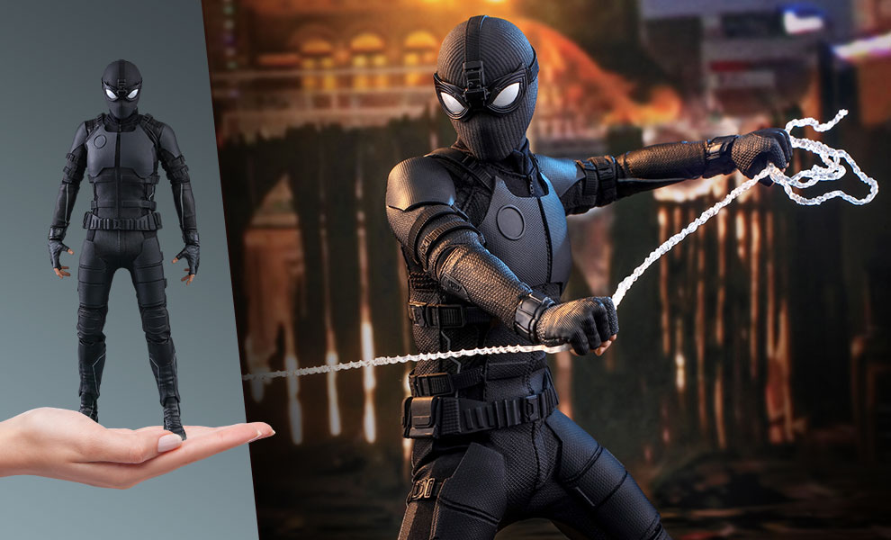Gallery Feature Image of Spider-Man (Stealth Suit) Sixth Scale Figure - Click to open image gallery