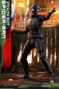 Gallery Image of Spider-Man (Stealth Suit) Deluxe Version Sixth Scale Figure
