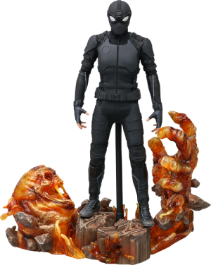 Spider-Man (Stealth Suit) Deluxe Version Sixth Scale Figure