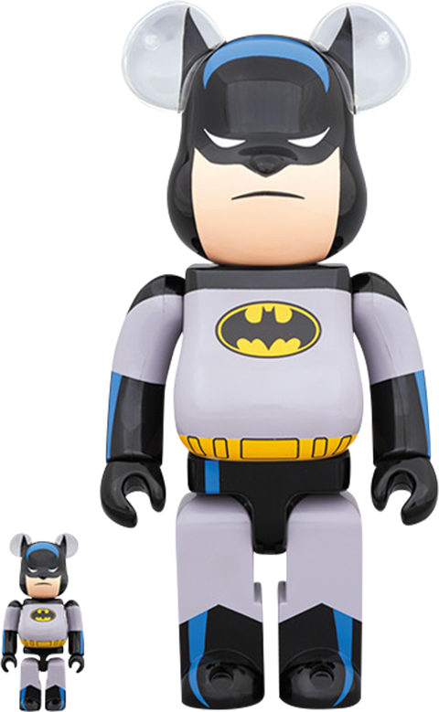 Medicom Toy Be@rbrick Batman Animated 100% and 400% Collectible Set