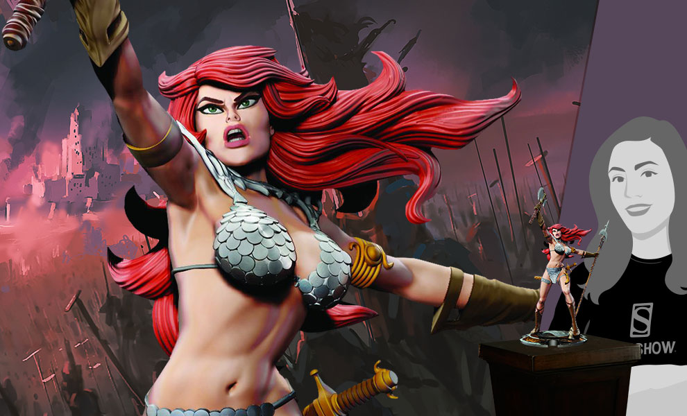 Gallery Feature Image of Red Sonja Statue - Click to open image gallery