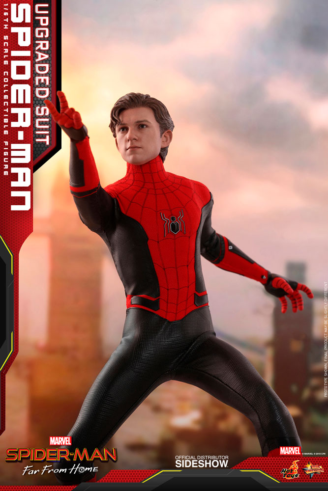 HT 1//6th Hot Toys Spider-Man Far From Home Peter Parker Upgraded Suit  MMS542