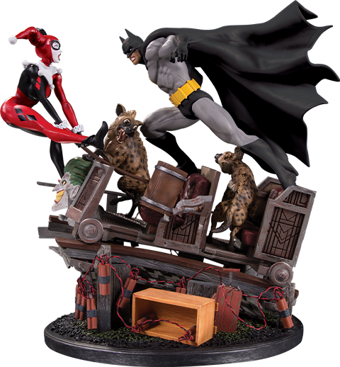 DC Collectibles Batman VS. Harley Quinn Battle Statue