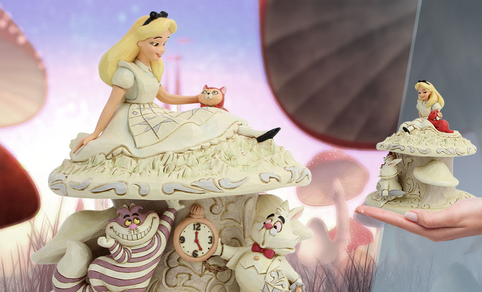 Gallery Feature Image of White Woodland Alice in Wonderland Figurine - Click to open image gallery