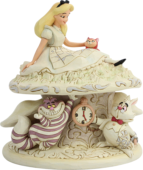 Enesco, LLC White Woodland Alice in Wonderland Figurine