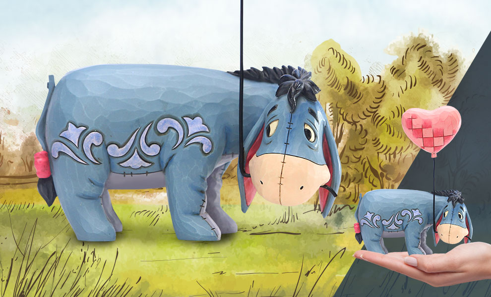 Gallery Feature Image of Eeyore with a Heart Balloon Figurine - Click to open image gallery