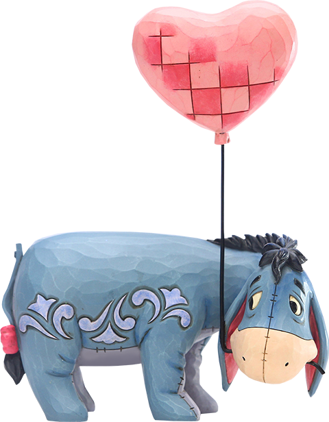 Enesco, LLC Eeyore with a Heart Balloon Figurine