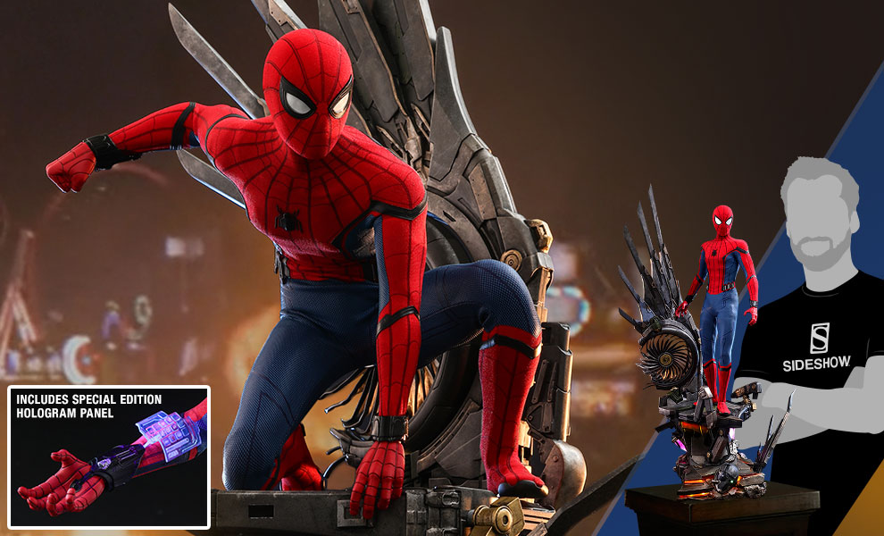 Gallery Feature Image of Spider-Man (Deluxe Version) Special Edition Quarter Scale Figure - Click to open image gallery