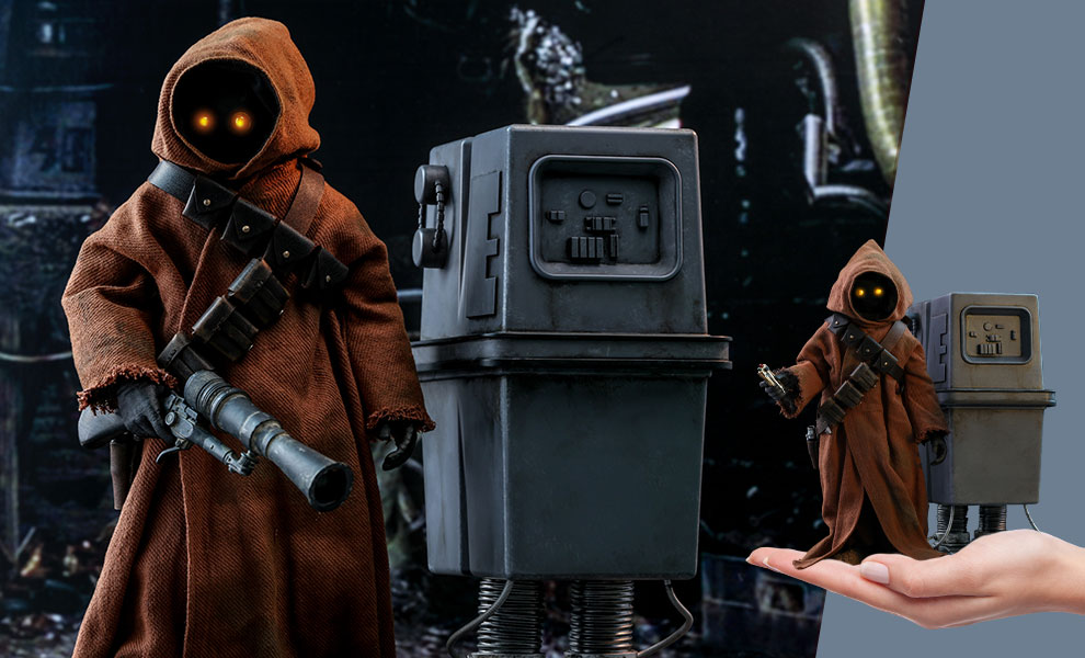 Gallery Feature Image of Jawa & EG-6 Power Droid Sixth Scale Figure Set - Click to open image gallery