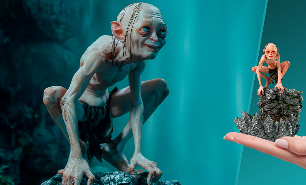 Gallery Feature Image of Gollum Deluxe Statue - Click to open image gallery