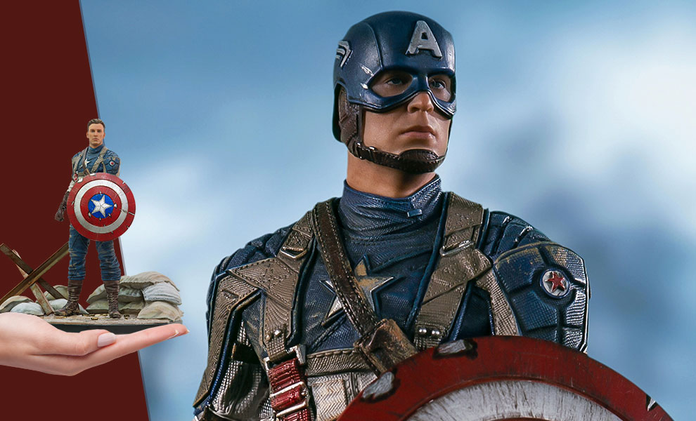 Gallery Feature Image of Captain America: The First Avenger Statue - Click to open image gallery