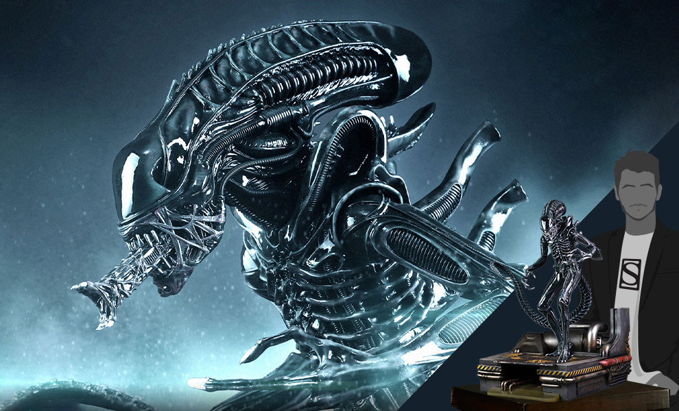 Gallery Feature Image of Alien Warrior Deluxe Maquette - Click to open image gallery