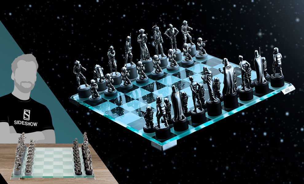Gallery Feature Image of Star Wars Classic Chess Set Pewter Collectible - Click to open image gallery