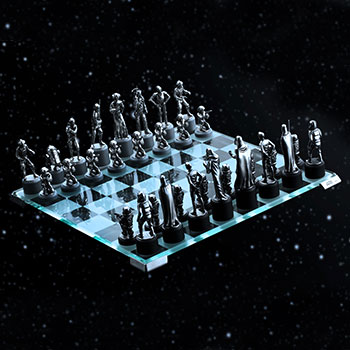Star Wars Classic Chess Set Pewter Collectible