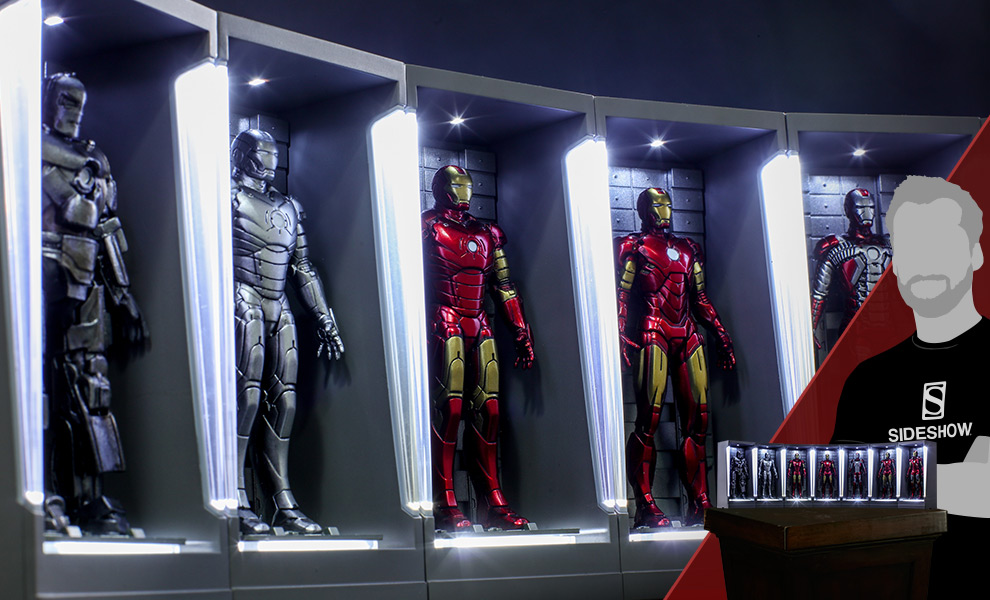 Gallery Feature Image of Iron Man Hall of Armor Miniature Collectible Set - Click to open image gallery